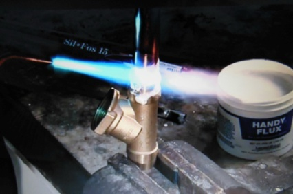 Brazing Copper to Brass with Sil Fos LM